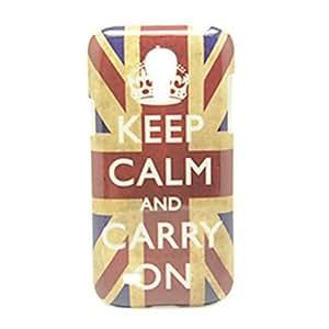 """conseguir La Union Jack y """"Mantener la calma"""" Patrón IMD duro caso Craft para Samsung Galaxy S4 Mini I9190"""