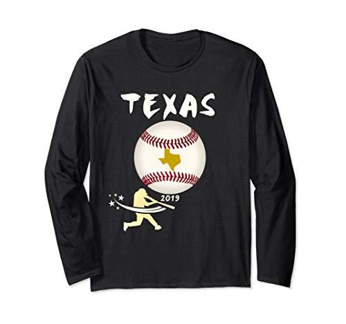 Texas Baseball Tshirt 2019 Baseball Ranger Player Giant Ball Long Sleeve T-Shirt