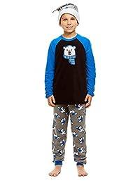 Boys 2 Piece Pajama Set | Long Sleeve Print Top & Jogger PJ Pants