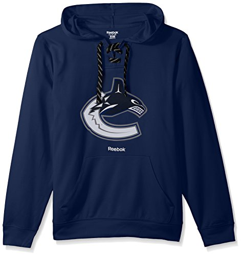 NHL Vancouver Canucks Adult Men Team Crest Performance Fleece Hockey Hood,X-Large,Dark (Vancouver Canucks Fleece)