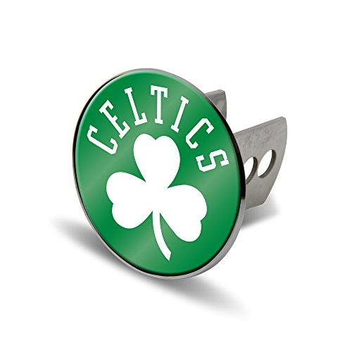 Rico NBA Boston Celtics Laser Cut Metal Hitch Cover, Large, Silver by Rico