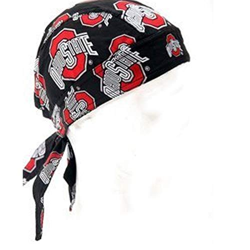- Ohio State Buckeyes Athletic Logo Black All Over Print Scrub Skull Cap