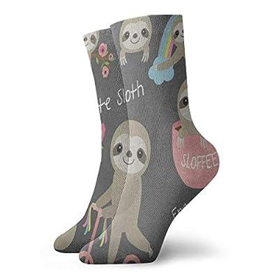 Crew Socks Ute Sloth Floral Rainbow Tree Customized Womens Stocking Decor Sock Clearance For Girls - Sloth Socks