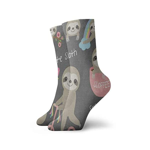 Crew Socks Ute Sloth Floral Rainbow Tree Customized Womens Stocking Decor Sock Clearance For Girls -