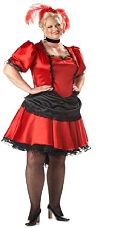 0d27e88f8 Amazon.com: Adult Plus Size Premier Saloon Girl Costume - Womens ...