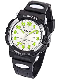 Kids Watch, Child Quartz Wristwatch with for Boys Kids Waterproof Time Teach Watches Rubber Band Analog Quartz Children Sport Outdoor Wrist Watches (Black)