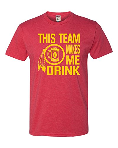 - X-Large Red Adult This Team Makes Me Drink Funny Washington Deluxe T-Shirt