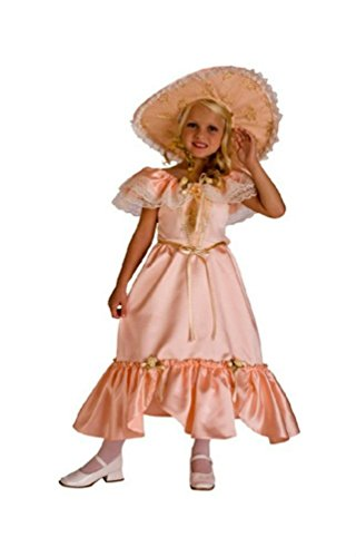 [Southern Belle Peach Child Costume - Small (4-6)] (Southern Belle Child Halloween Costume)