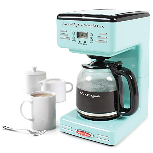 Nostalgia RCOF120AQ Retro 12-Cup Programmable Coffee Maker - Aqua Blue - coolthings.us