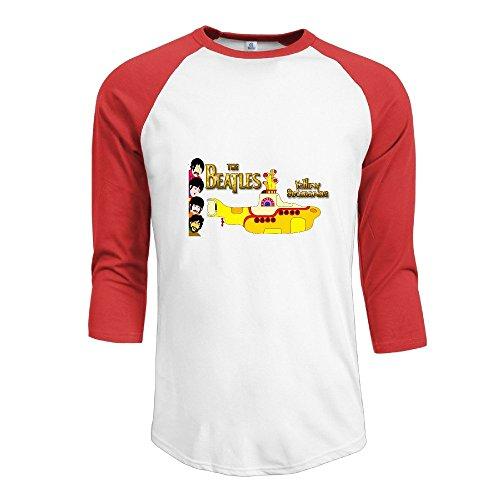 Price comparison product image SAXON Men's Funny Cool Yellow Marine Raglan 3 / 4 Sleeve