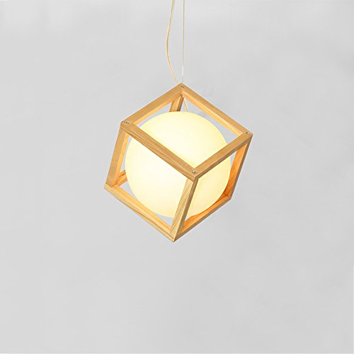 8 Ball Wooden Pendant Light