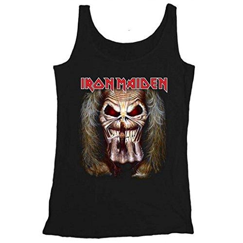 Iron Maiden - Camiseta sin mangas - Eddie Candle Finger: Amazon.es: Ropa y accesorios
