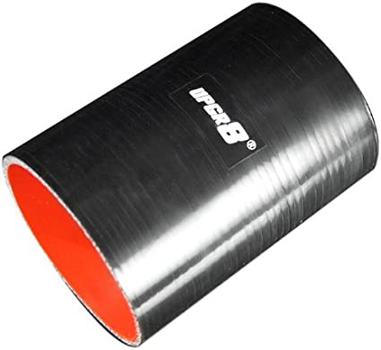 , Red 3.0 Upgr8 Universal 4-Ply High Performance Straight Coupler Silicone Hose 152MM Length 76MM