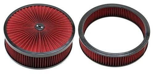 "14"" x 4'' BLack Breather Washable Air Filter Cleaner Reusable Oiled & Element"
