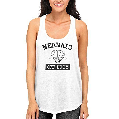 Women's Summer Mermaid Off Duty Cute Tank Top for Beach Gym Racerback Tanks - Off Duty Clothing