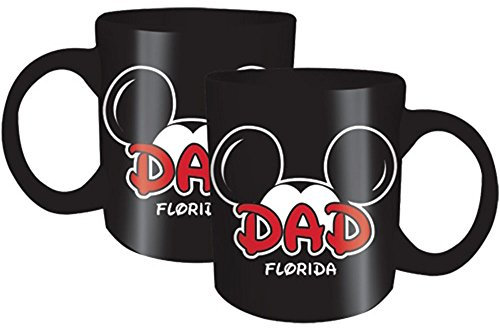 Disney Mickey Dad Fan Jumbo 20oz Mug Black Florida