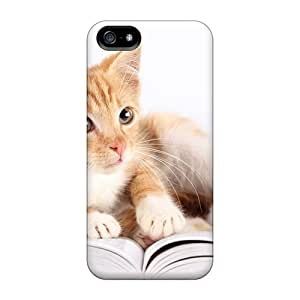 Tough Iphone UYZ24601pmpd Cases Covers/ Cases For Iphone 4/4S(studying Cat)