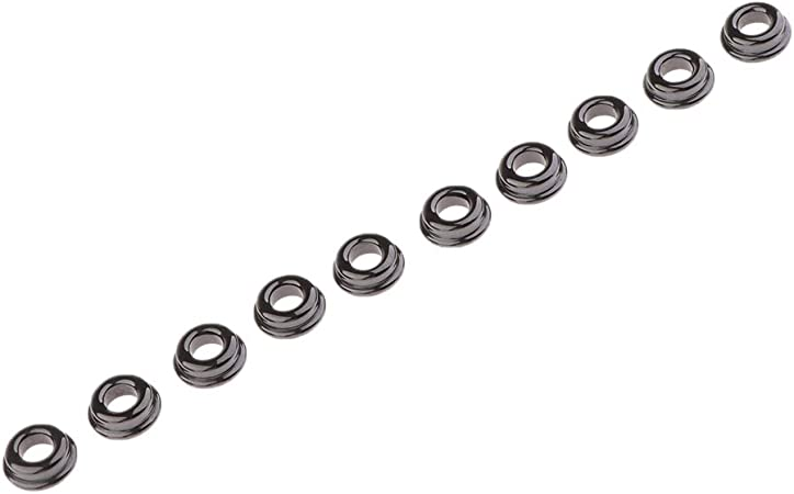 B Blesiya 10PCS Black Mixed Size Fishing Top Ceramic Rings Rod Pole Repair Kit Line Guides Eyes Sets