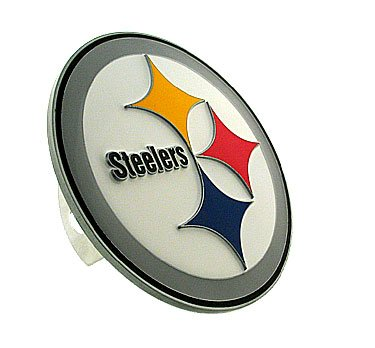 - Large Logo-Only NFL Hitch Cover - Pittsburgh Steelers