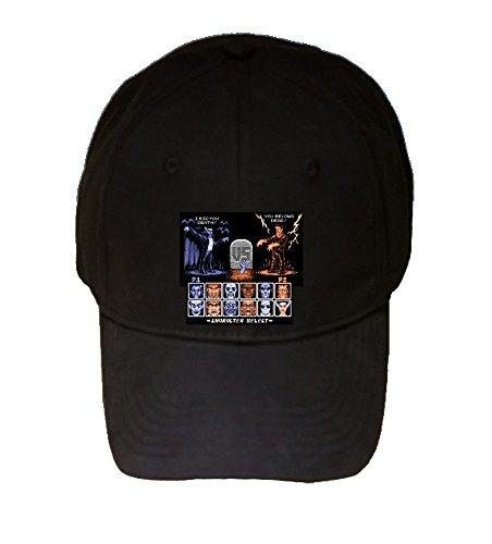 100% Black Cotton Adjustable Hat - Universal Monster Fighter - Parody Design