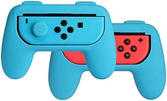 AmazonBasics Grip Kit voor Nintendo Switch Joy-Con-controllers - blauw