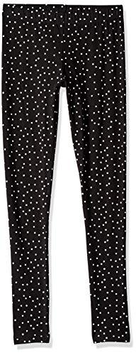 Crazy 8 Girls' Big Basic Legging, Black/White Polka dot, L