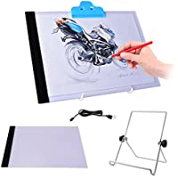 Bestnice A4 Ultra-thin Portable LED Light Box tracer USB Power LED Artcraft Tracing Light Pad Light Box for Artists,Drawing
