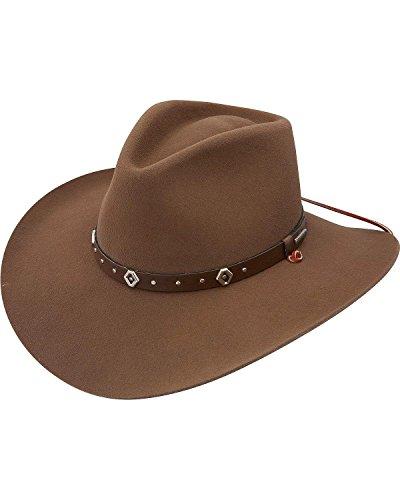 Stetson Men's 3X Elk Ridge Stallion Wool Cowboy Hat Pecan Large