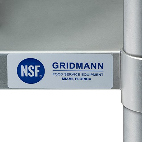 Gridmann NSF Stainless Steel Commercial Kitchen Prep & Work Table - 30 in. x 24 in. by Gridmann (Image #6)
