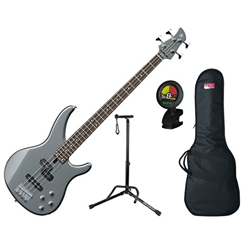 Used, Yamaha TRBX204GRM Gray Metallic 4-String Bass Guitar for sale  Delivered anywhere in USA