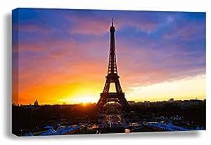 Art On Canvas Eiffel Tower On Canvas