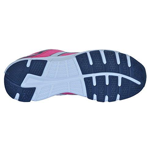 Pro Touch Oz Pro 4Jr - Zapatillas para correr, color azul/lima - rosa