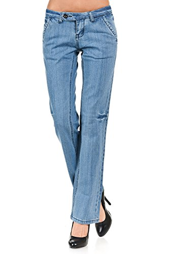 VIRGIN ONLY Women's Classic Fit Bootcut Jeans (Light Blue, 11)