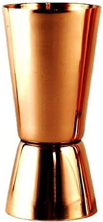 PARIJAT Handicraft Pure Copper Measuring Jigger Shot Glasses Double Sided Jiggers 2 Ounce and 1 Ounce.