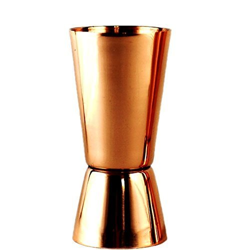 PARIJAT HANDICRAFT Set of 4 Pure Copper Measuring Jigger Shot Glasses Double Sided Jiggers - 2 Ounce and 1 Ounce. by PARIJAT HANDICRAFT (Image #3)