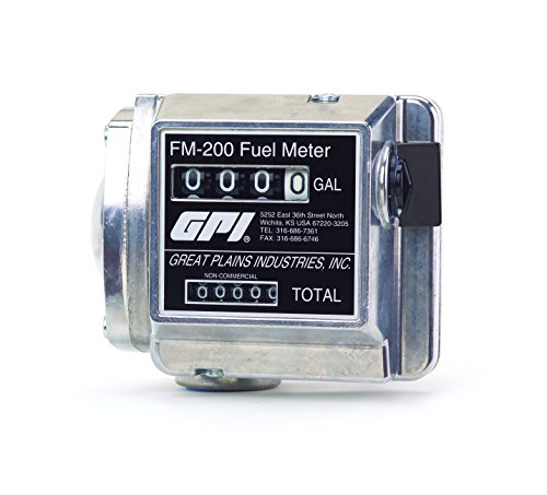 GPI 111200-4, FM200-G8N Mechanical Disk Fuel Flowmeter 1-Inch FNPT, 4-20 - Mechanical Flow Meter