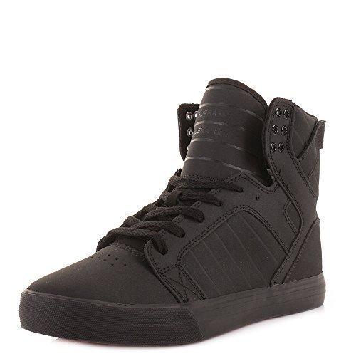 Supra Skytop Zapatos playeras skate altas negro hombres - Negro, Tela, 45