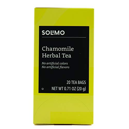 Amazon Brand - Solimo Chamomile Herbal Tea Bags, 20 Count