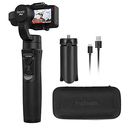 Hohem iSteady Pro Gimbal Stabilizer, Handheld Gimbal Compatiable GoPro Hero 2018 7 6 5 4 3, Yi 4K Action Camera, RXO, AEE, SJCAM, 3-Axis GoPro Gimbal, Super Lightweight, Auto Panorama