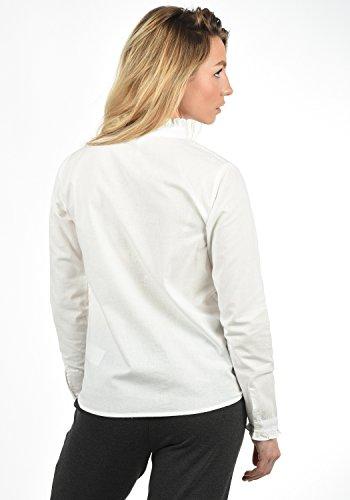 Coton avec 20006 Snow BlendShe White Col pour Imprim Chemisier Bluse Femme Blouse 100 Droit xpqwvZS