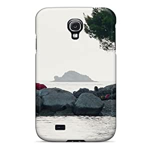 Awesome The Stone Beach Flip Case With Fashion Design For Galaxy S4