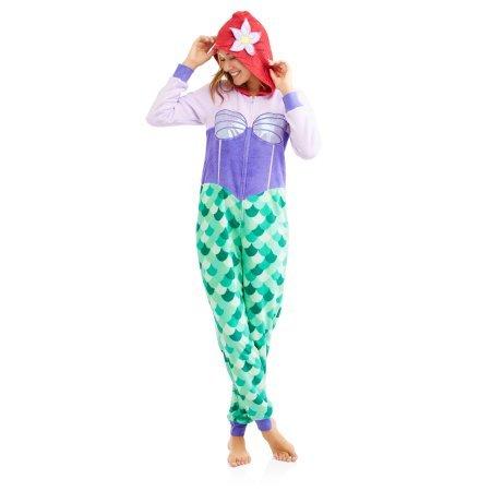 Disney Ariel Women's Union Suit Pajamas (M 8/10)