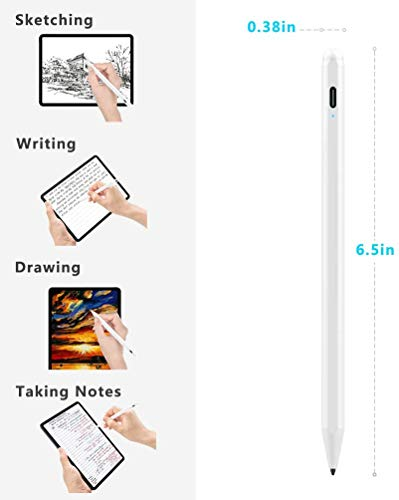 Palm Rejection Stylus Pen for Apple iPad,XIRON Active Stylus Compatible with (2018-2020) Apple iPad Pro 11 & 12.9 inch/iPad 8th & 7th Gen 10.2 inch/iPad 6th Gen/iPad Mini 5th Gen/iPad Air 3rd Gen