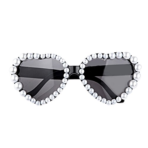 Novelty Heart Glasses Fancy Dress Costume Party Pearl Sunglasses Shades