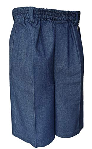 Benefit Wear Mens Full Elastic Waist Pull-On Shorts with Mock Fly (XL, - Fly Mock