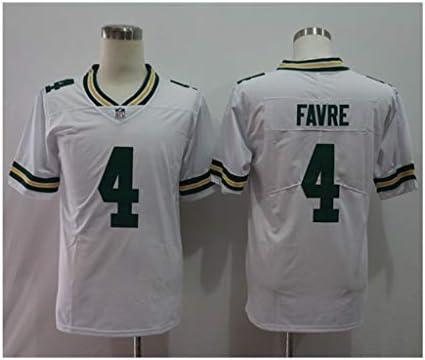 NFLフットボールジャージーグリーンベイパッカーズ#4 FAVREアメリカンフットボール刺繍スポーツウェア半袖ラグビージャージーS-XXXL
