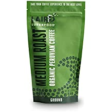 Laird Superfood Organic Ground Coffee | Medium Roast | Peruvian Fair Trade - 12oz