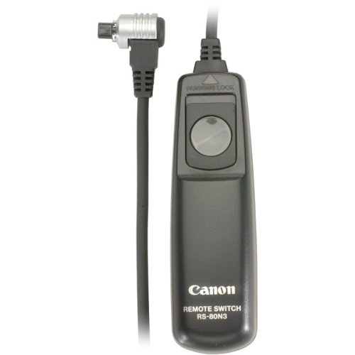 - Canon RS-80N3 Remote Switch for EOS-1V/1VHS, EOS-3, EOS-D2000, D30, D60, 1D, 1Ds, EOS-1D Mark II,III, EOS-1Ds Mark II,III, EOS-10D, 20D, 30D,40D, 50D, 5D