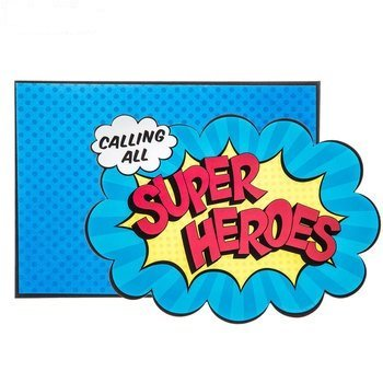 Superhero Birthday Invitations with Envelopes Party Supplies 10 Count]()