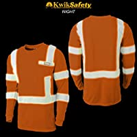 KwikSafety (Charlotte, NC) OPERATOR (with POCKET and Solid Reflective)  Class 3 ANSI High Visibility Safety Shirt Tape Construction Security Hi Vis